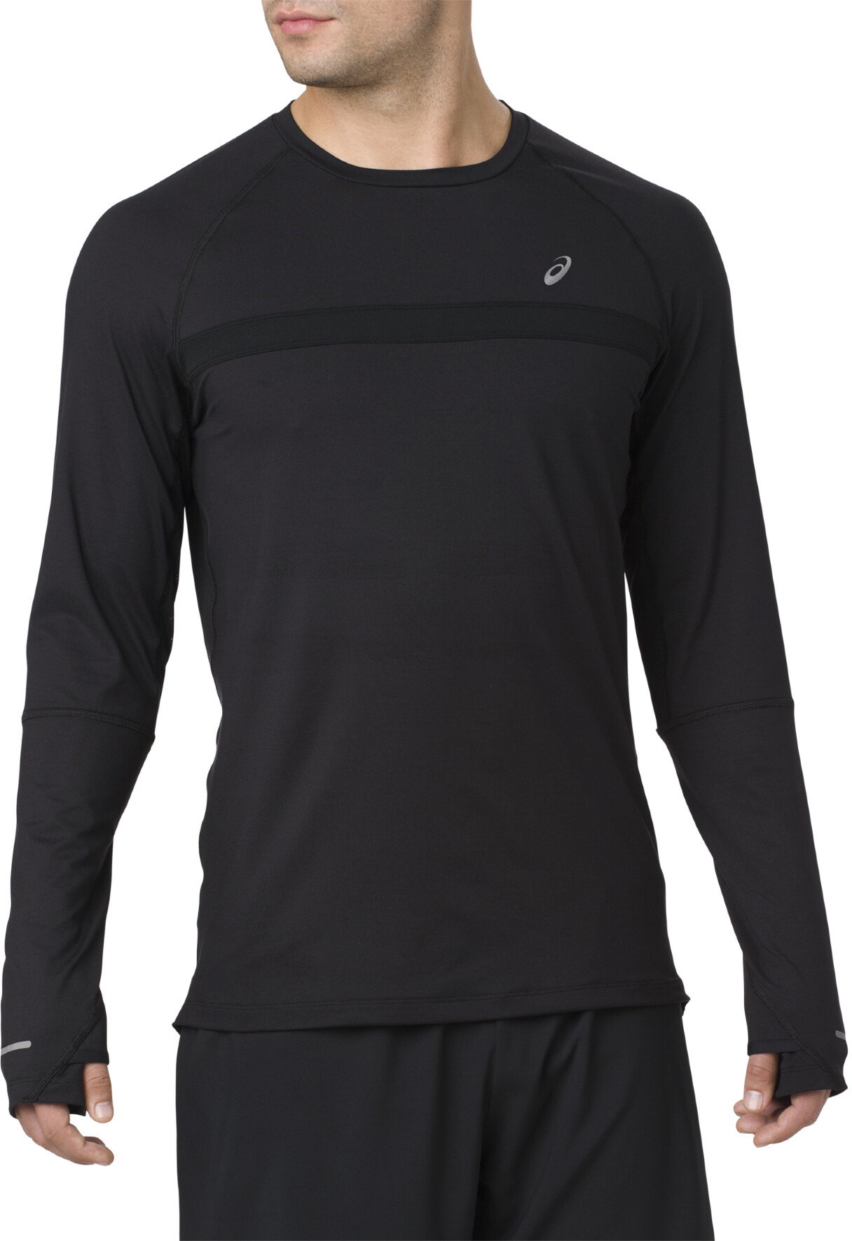 b4db3a6bf asics Thermopolis Plus - Camiseta manga larga running Hombre - negro ...